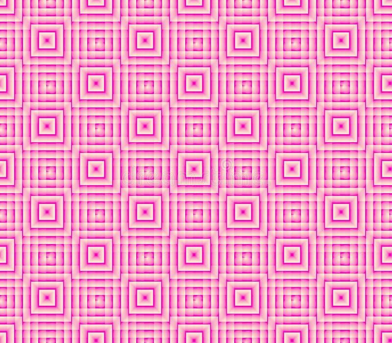 Abstrakcjonistyczny bezszwowy tło linie i kwadraty różowe i białe ilustracji