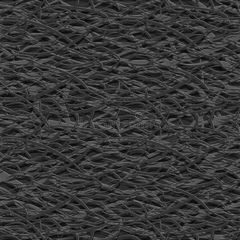 Abstrakcjonistyczny bezszwowy tło w stylu papercut royalty ilustracja