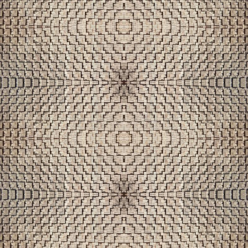 Abstrakcjonistyczny bezszwowy textural tło cegły zaświecać słońcem i pleśnieć wpólnie symmetrically wyśmienity kamieniarstwo obrazy royalty free