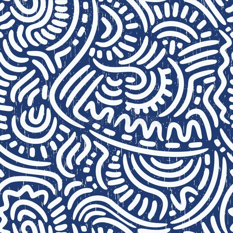 Abstrakcjonistyczny bezszwowy wzór ilustracja wektor