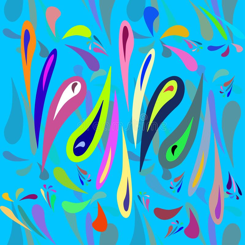 Abstrakcjonistyczny bezszwowy wzór dla dziewczyn, chłopiec, odziewa zdjęcia stock