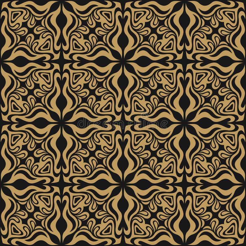 Abstrakcjonistyczny bezszwowy wzór faliste geometryczne formy Okulistyczny wykoślawienie wizerunek ilustracji