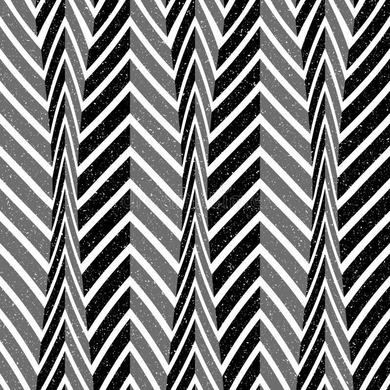 Abstrakcjonistyczny bezszwowy wzór linie i kąty Okulistyczny złudzenie astronautyczny wykoślawienie ilustracja wektor