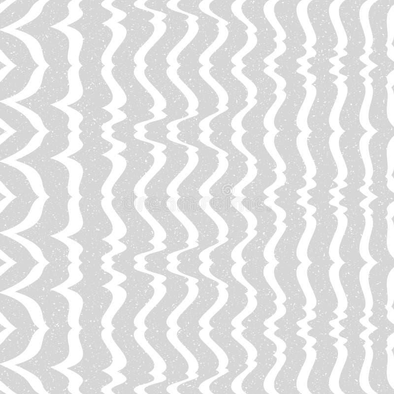Abstrakcjonistyczny bezszwowy wzór linie i kąty Okulistyczny złudzenie astronautyczny wykoślawienie royalty ilustracja