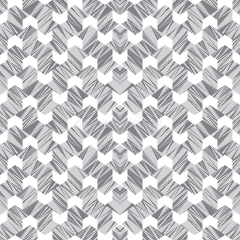 Abstrakcjonistyczny bezszwowy wzór linie i kąty Stały ruch geometryczni kształty ilustracji