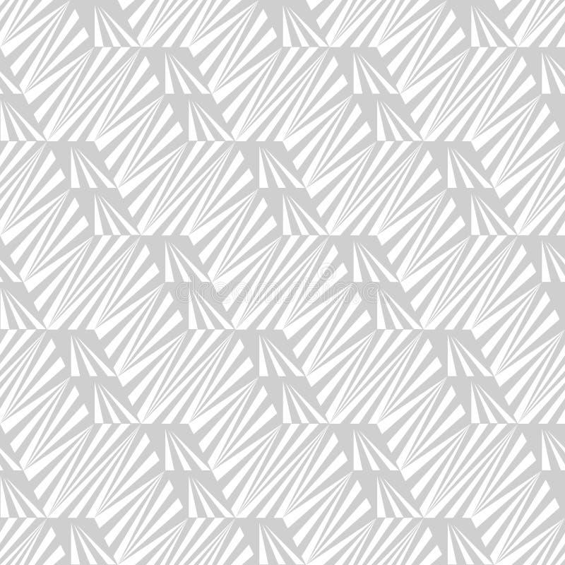 Abstrakcjonistyczny bezszwowy wzór linie i kąty Stały ruch geometryczni kształty royalty ilustracja