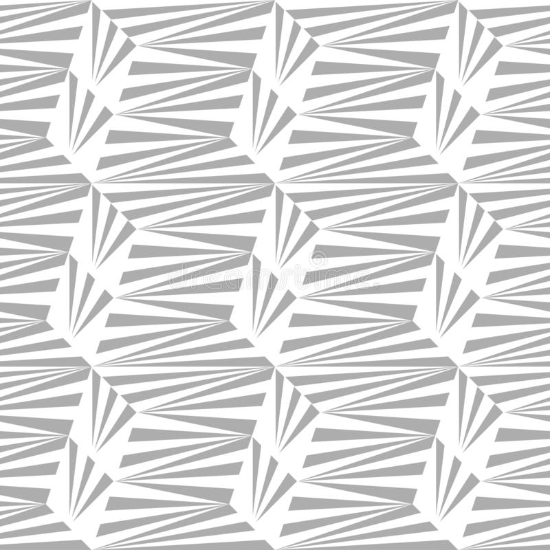 Abstrakcjonistyczny bezszwowy wzór linie i kąty Stały ruch geometryczni kształty ilustracja wektor