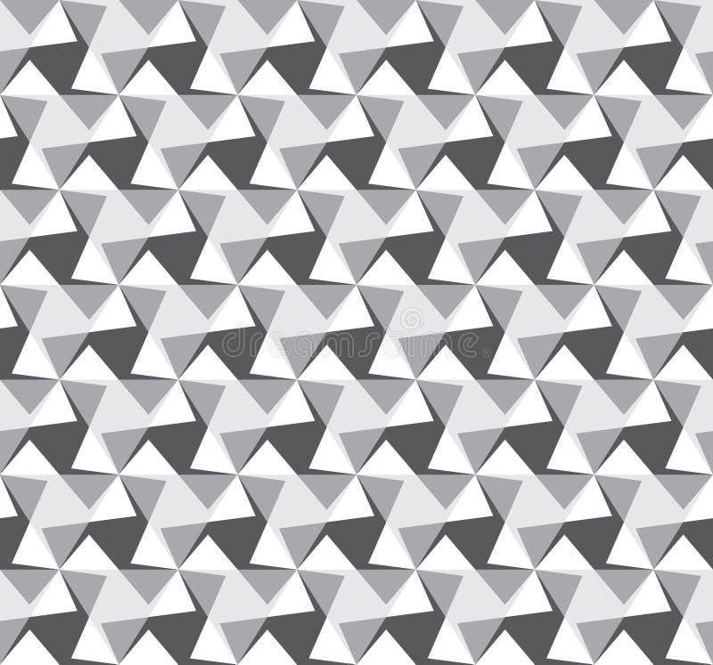 Abstrakcjonistyczny bezszwowy wzór od kątów Okulistyczny złudzenie ruch Spokojny wizerunku budynek royalty ilustracja