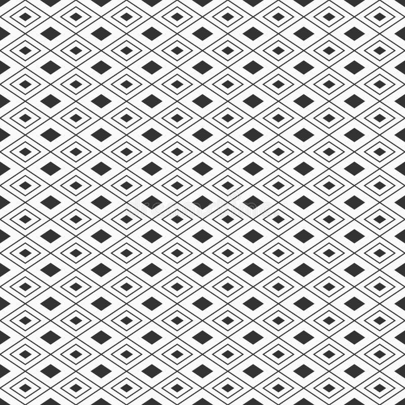 Abstrakcjonistyczny bezszwowy wzór rhombuses Regularnie powtarzać geometrycznego ornament wypełniający i liniowi rhombuses ilustracja wektor