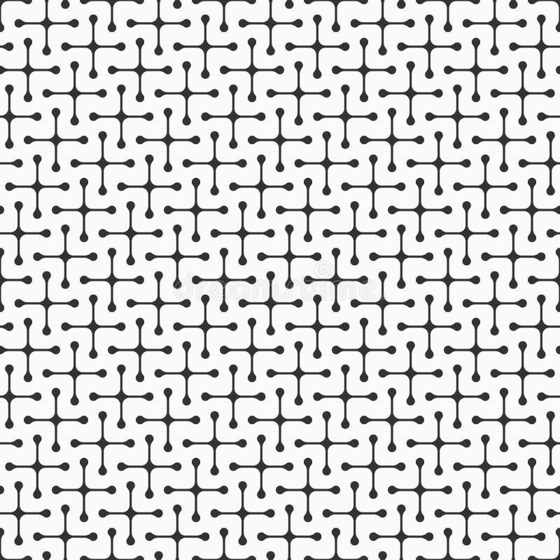 Abstrakcjonistyczny bezszwowy wzór symmetric geometryczni kształty ilustracja wektor