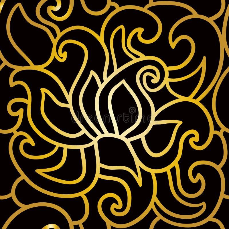 Abstrakcjonistyczny bezszwowy wzór w art deco stylu royalty ilustracja