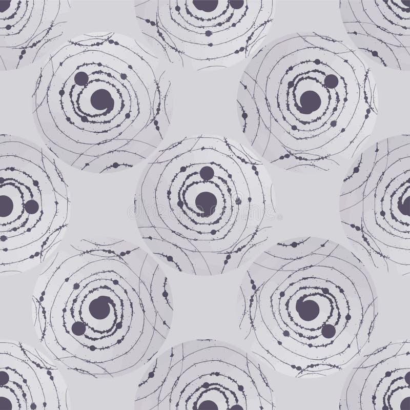 Abstrakcjonistyczny bezszwowy wzór z kręconymi kształtami tło dekoracyjny Kolorowa tekstura dla projekta tkanina, tkanina, pokryw ilustracja wektor