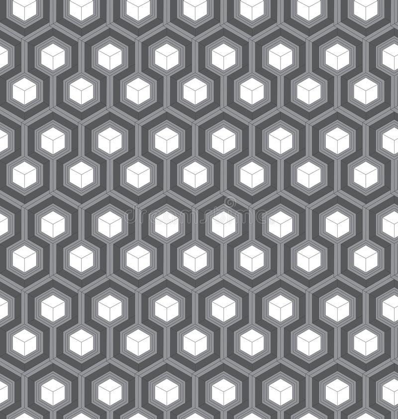 Abstrakcjonistyczny bezszwowy wzór z sześcianami zdjęcia stock