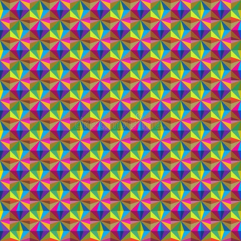 Abstrakcjonistyczny bezszwowy wzór z trójbokami obrazy royalty free
