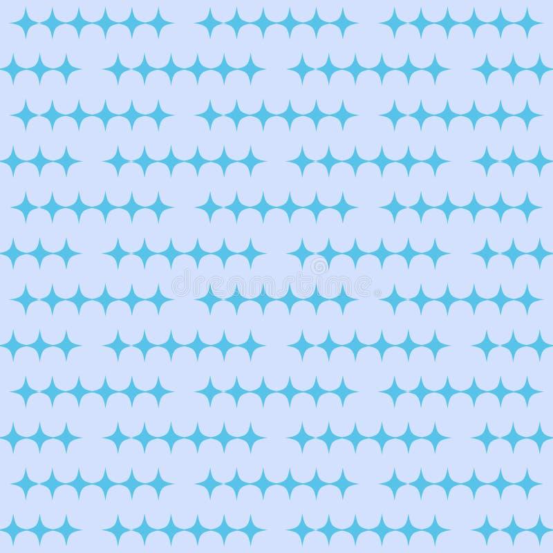 Abstrakcjonistyczny bezszwowy wz?r z diamentami Wektorowy tło w błękitnych cieniach ilustracji