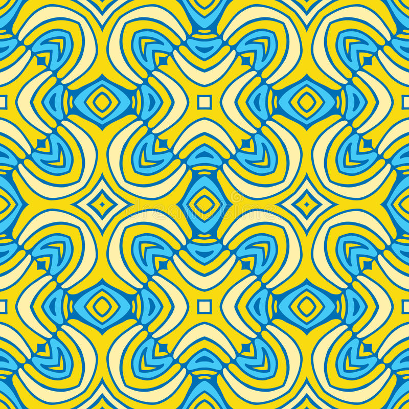 Abstrakcjonistyczny bezszwowy Złoty wzór ilustracji
