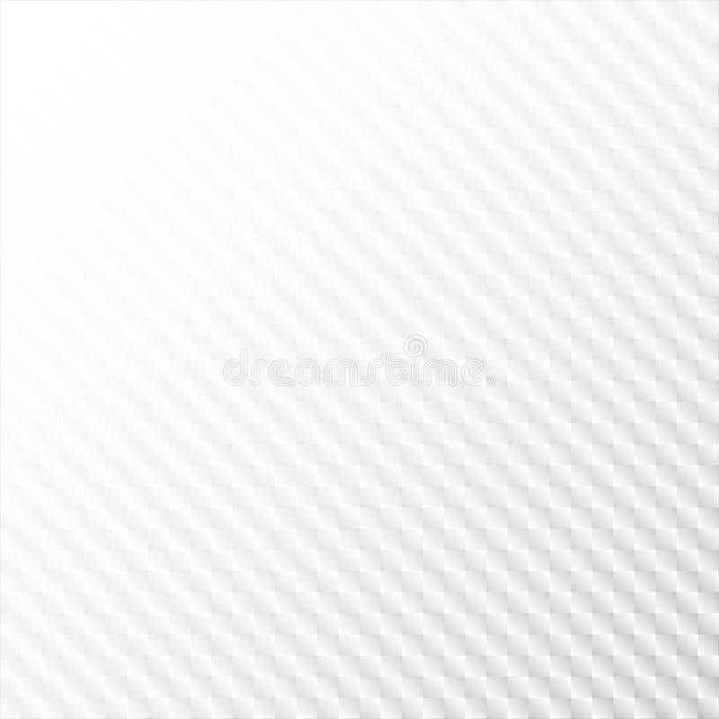 Abstrakcjonistyczny białego kwadrata neutralny wzór bezszwowy Nowożytnej siatki elegancka tekstura Wielostrzałowe geometryczne pł ilustracja wektor