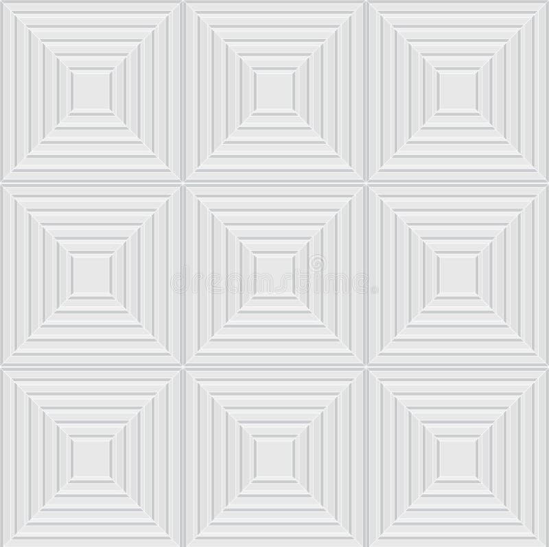 Abstrakcjonistyczny biały bezszwowy tło royalty ilustracja