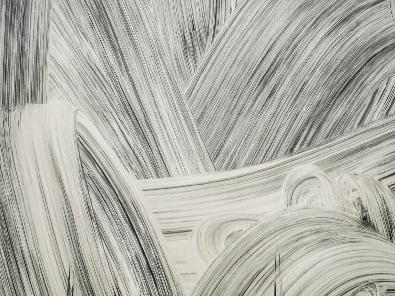 Abstrakcjonistyczny biały farba rozmaz zdjęcia stock