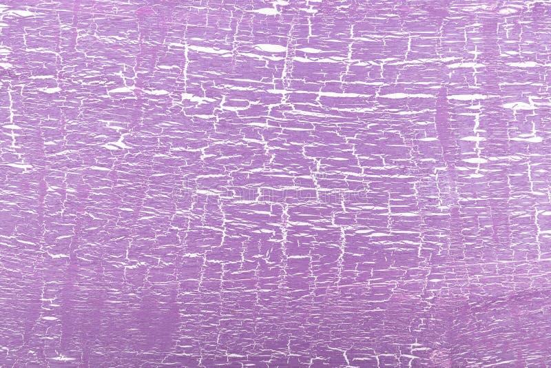Abstrakcjonistyczny biały i purpura malujący krakingowy tło royalty ilustracja