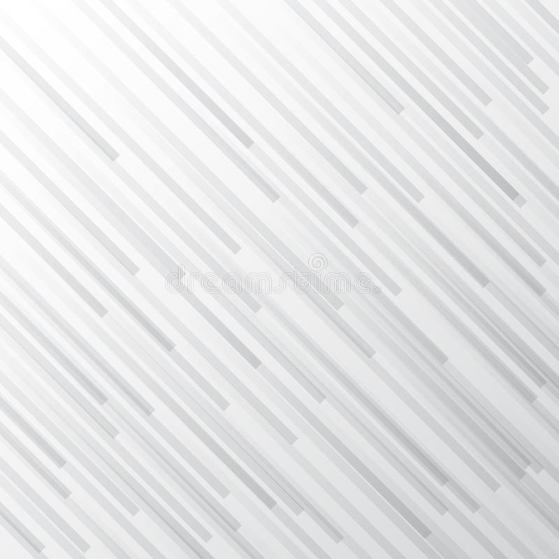 Abstrakcjonistyczny biały i szary gradientowy lampas przekątny linii tło Monochromatyczny elegancki geometryczny tło ilustracji