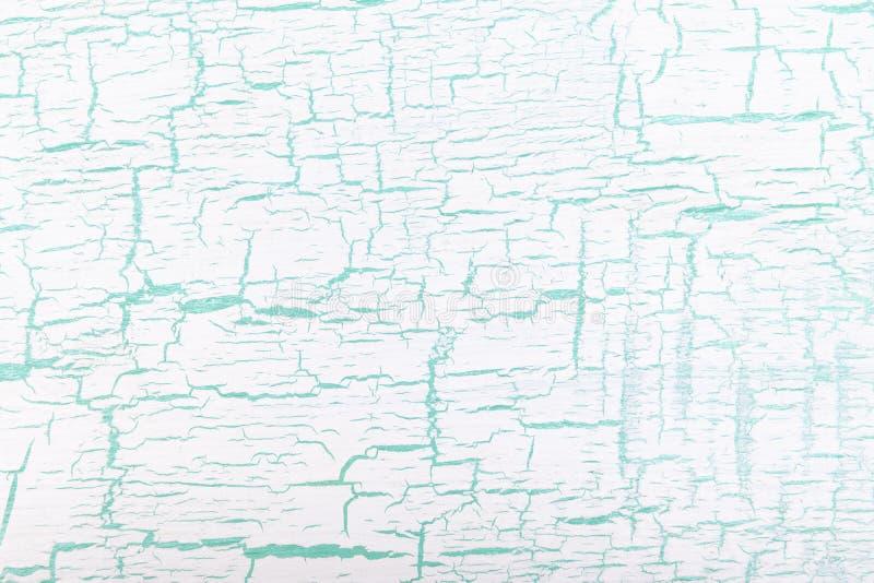 Abstrakcjonistyczny biały i zielony malujący krakingowy tło ilustracja wektor