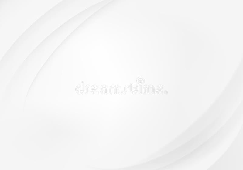 abstrakcjonistyczny biały tło z fala royalty ilustracja