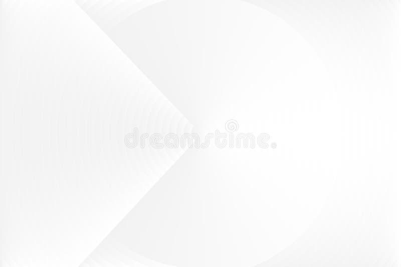 Abstrakcjonistyczny biały tekstury tło, cieni szarość zaokrąglających okręgi Wektorowa ilustracja, EPS10 ilustracja wektor