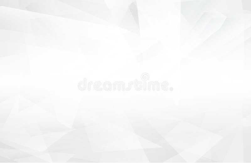 Abstrakcjonistyczny biały wnętrze podkreśla przyszłość szary tło, Lowpoly tło z przestrzenią Białego papieru wieloboka nowożytny  ilustracja wektor