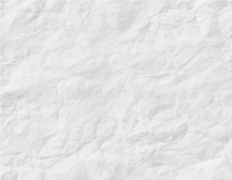 Abstrakcjonistyczny biel Marszcząca papierowa tekstura obraz stock