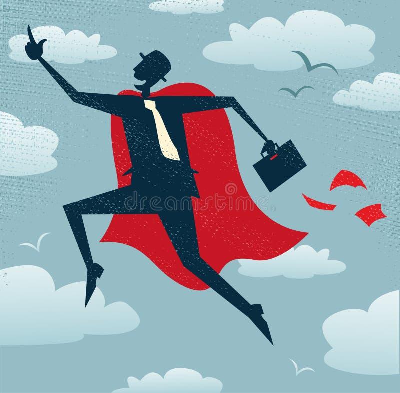 Abstrakcjonistyczny biznesmen jest bohaterem royalty ilustracja