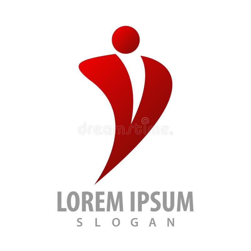 abstrakcjonistyczny biznesmena charakteru logo pojęcia projekt Symbolu szablonu elementu graficzny wektor royalty ilustracja
