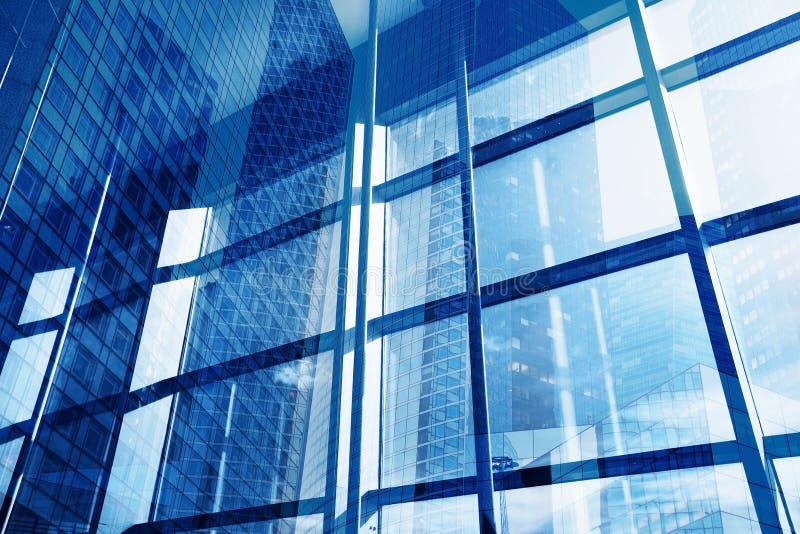 Abstrakcjonistyczny biznesowy budynku wnętrze, zaawansowany technicznie obraz stock