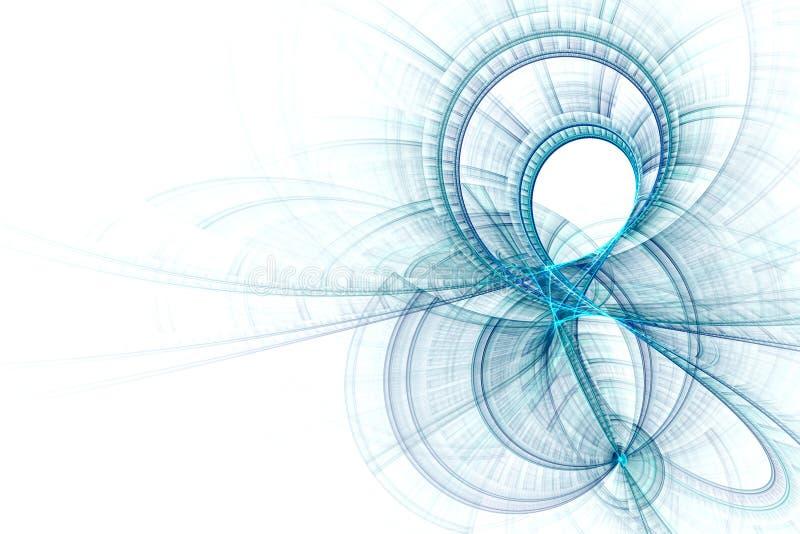 Abstrakcjonistyczny biznesowy nauki lub technologii tło ilustracji