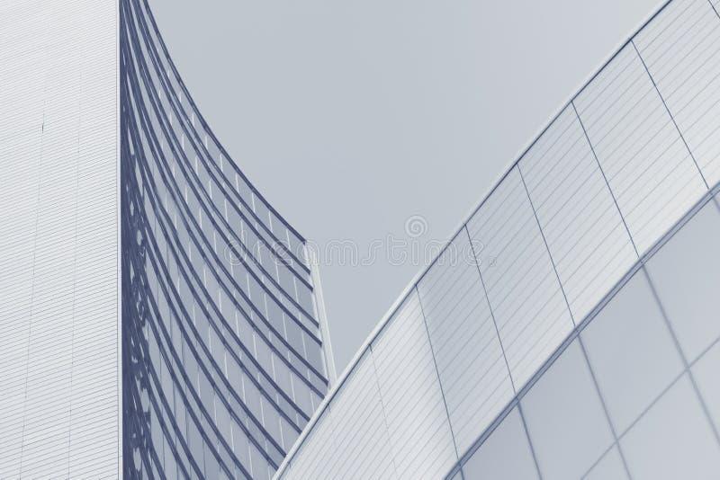 Abstrakcjonistyczny biznesowy nowożytny tło z pejzażem miejskim fotografia stock