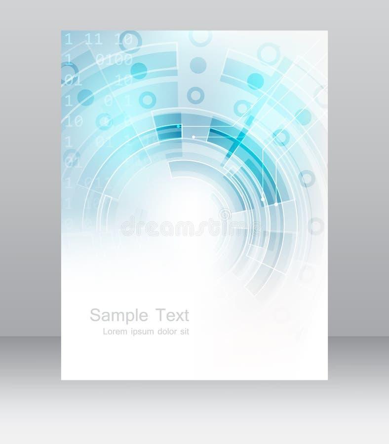 Abstrakcjonistyczny biznesowy ulotka szablon, broszurka lub korporacyjny sztandar, royalty ilustracja
