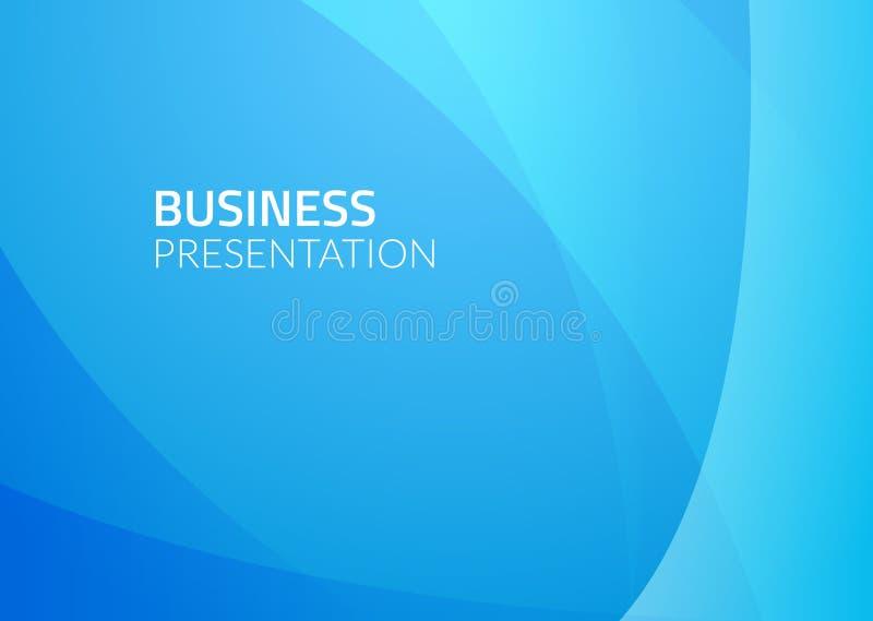 Abstrakcjonistyczny biznesowy wektorowy tło Błękitna graficznego projekta ilustracja Biznesowy tapeta wzór royalty ilustracja