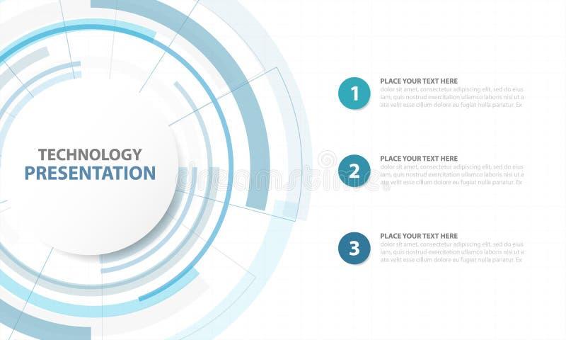 Abstrakcjonistyczny Blue Circle technologii cyfrowej tło, futurystyczny s royalty ilustracja