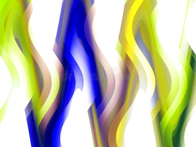 Abstrakcjonistyczny bluw zieleni tło, grafika, abstrakcjonistyczny tło i tekstura, royalty ilustracja
