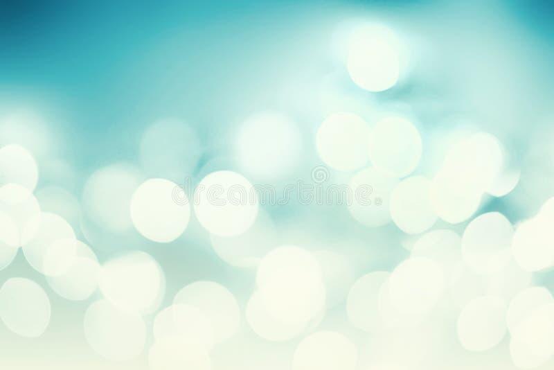Abstrakcjonistyczny Bożenarodzeniowy tło z bokeh światłami i miejsce dla te zdjęcia royalty free