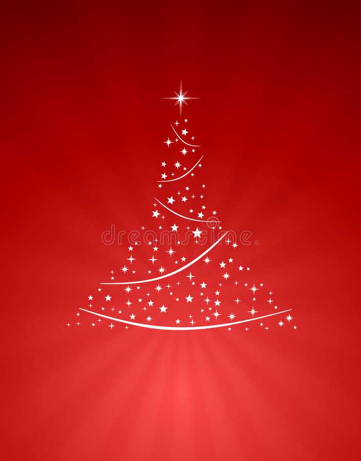 abstrakcjonistyczny bożych narodzeń czerwieni drzewo royalty ilustracja