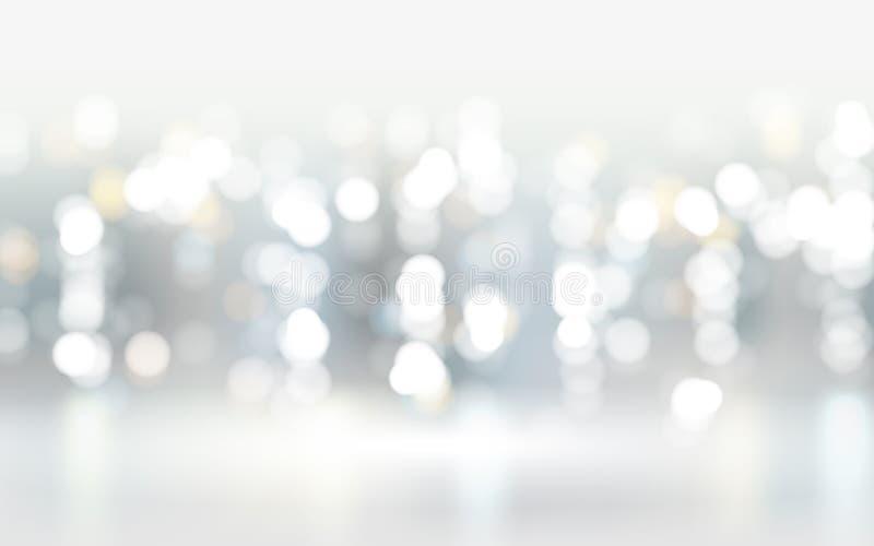 Abstrakcjonistyczny bokeh cząsteczek tło ilustracji