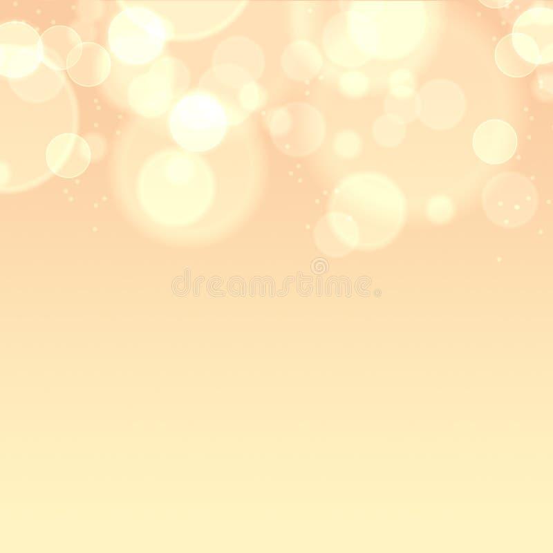 Abstrakcjonistyczny bokeh tło, ciepły bokeh tło, zamazujący światła, lata bokeh ilustracja ilustracji