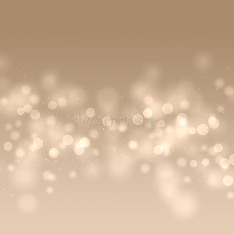 Abstrakcjonistyczny bokeh tło, ciepły bokeh tło, zamazujący światła, lata bokeh ilustracja ilustracja wektor