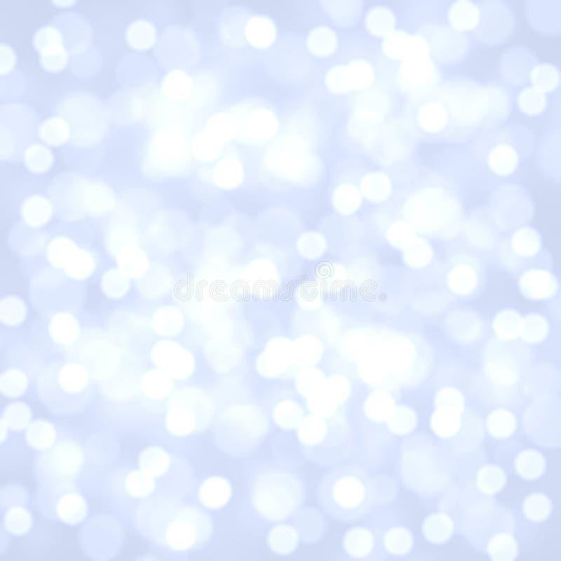 Abstrakcjonistyczny bokeh tło, pastelowy bokeh tło, zamazujący światła, kolorowa bokeh ilustracja Biały i błękitny bokeh fotografia royalty free