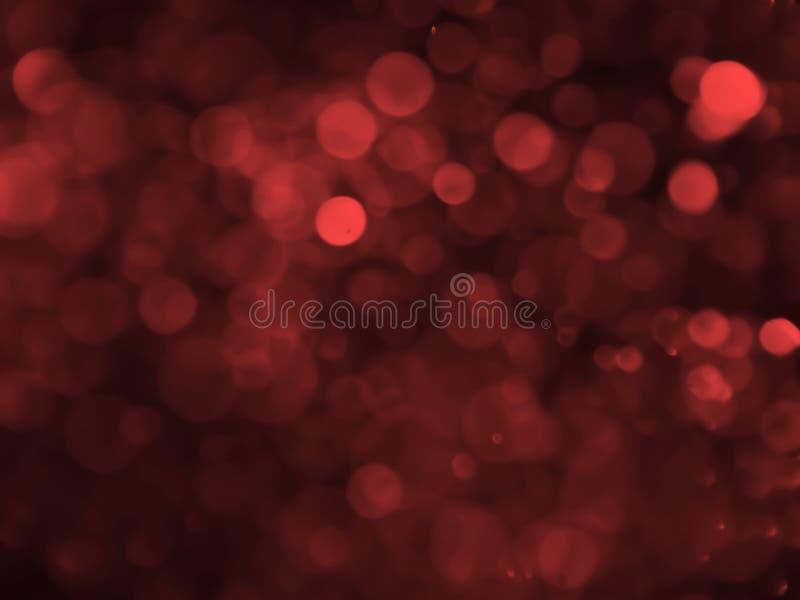 Abstrakcjonistyczny bokeh tło z bąbla czerwonym kolorem zdjęcie royalty free