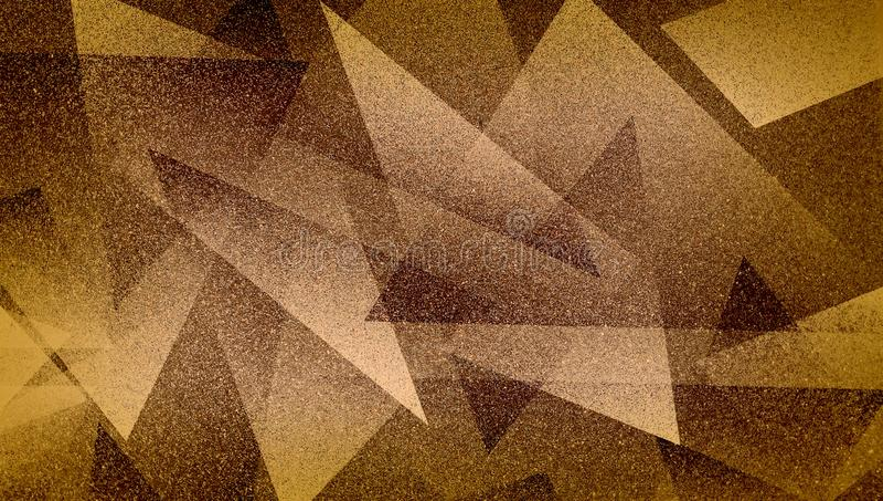 Abstrakcjonistyczny brązu tło cieniący paskował wzór i bloki w diagonalnych liniach z rocznika błękitnego brązu teksturą zdjęcia stock
