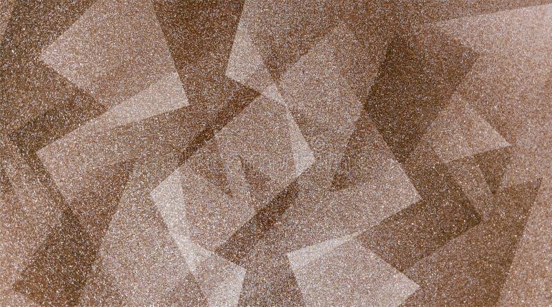 Abstrakcjonistyczny brązu tło cieniący paskował wzór i bloki w diagonalnych liniach z rocznikiem brązowić teksturę royalty ilustracja