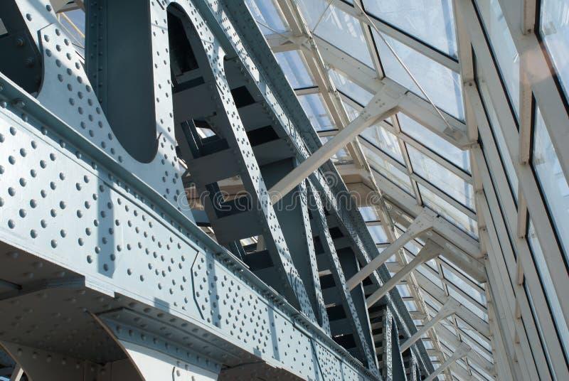 abstrakcjonistyczny bridżowy szczegółu ramy metal obrazy royalty free
