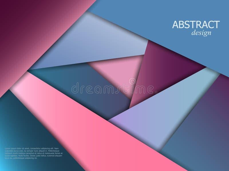 Abstrakcjonistyczny broszurka projekt ilustracji